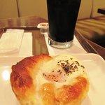 サンマルクカフェ - 目玉焼きベーコンのコーヒーセット 400円