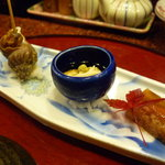 寿司 魚瀬 - ☆お付き出しは3種盛です(^o^)丿☆