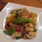 彩雲瑞 - 料理写真:大海老とレンコンのXO醤炒め