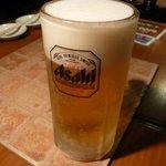 七輪焼肉 安安 - 199円のビール