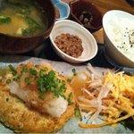 ビオ・オジヤン・カフェ - おぼろ豆腐のハンバーグ