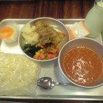 きゅうしょくのおばさんカフェテリア - ミートソースセット