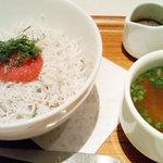 ナナズグリーンティー - しらすと明太子丼(¥780)