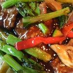 中国料理 頂好 - 牛肉と野菜のカキ油炒め