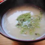 カフェ ハレノヒ - 玉ねぎのスープアップ