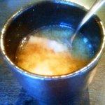 kawara CAFE&DINING - セットのお味噌汁