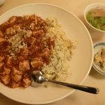 中国料理 珍満 - 陳マーボーホイ飯(893円+大盛105円)