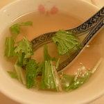 中国料理 珍満 - 陳マーボーホイ飯(893円+大盛105円)~スープ