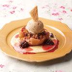クックコープカフェ - 今年の秋のイチ押しデザート!焼きリンゴのクランブル