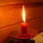 ristorante ANDREA - 良く燃えるキャンドル