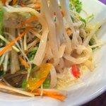 酒と肴と麺の店 田村屋 - ミルク冷やし野菜:麺アップ