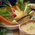 白金 西洋料理 快簇船 - 出雲野菜のバーニャカウダー