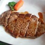 焼肉 せんりゅう - 牛ロースステーキ定食 609円