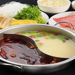 唐朝刀削麺 - メニュー写真:麻辣火鍋セット 一人前2200円 (二名様より)