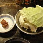 串屋横丁 - キャベツと味噌