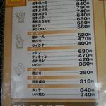 9934312 - 焼肉のメニュー
