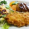 レストラン 幹 - 料理写真:ハンバーグと海老クリームコロッケ